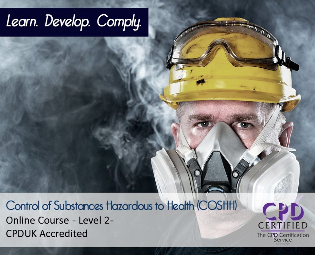 COSHH Training Level 2 - Online CPD Course - The Mandatory Training Group UK -