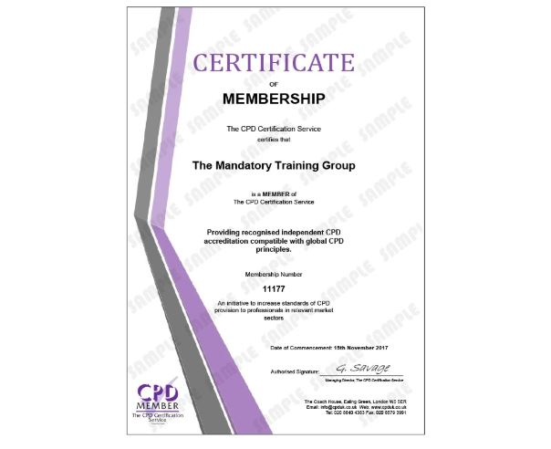 Health and Safety Training for Health & Social Care Workers Level 2 - Online CPD Accredited Course - The Mandatory Training Group UK -