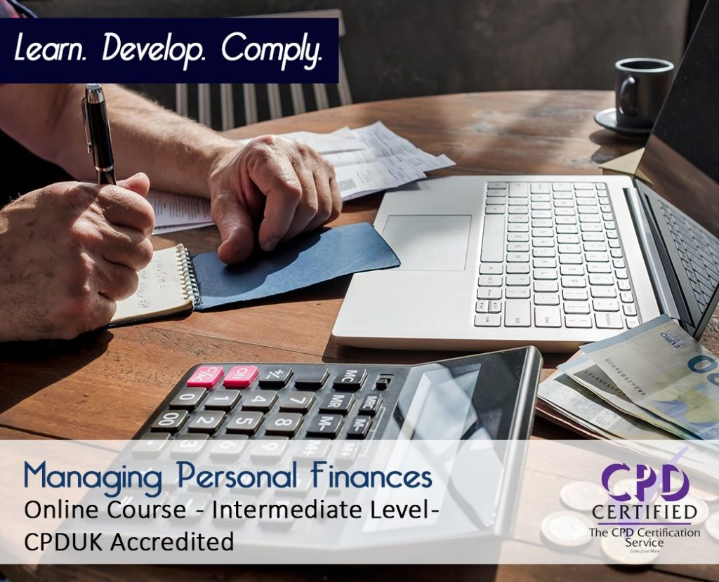 Managing Personal Finances - Online CPD Course - The Mandatory Training Group UK -